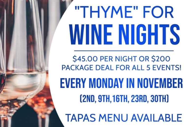 Thyme Wine Month