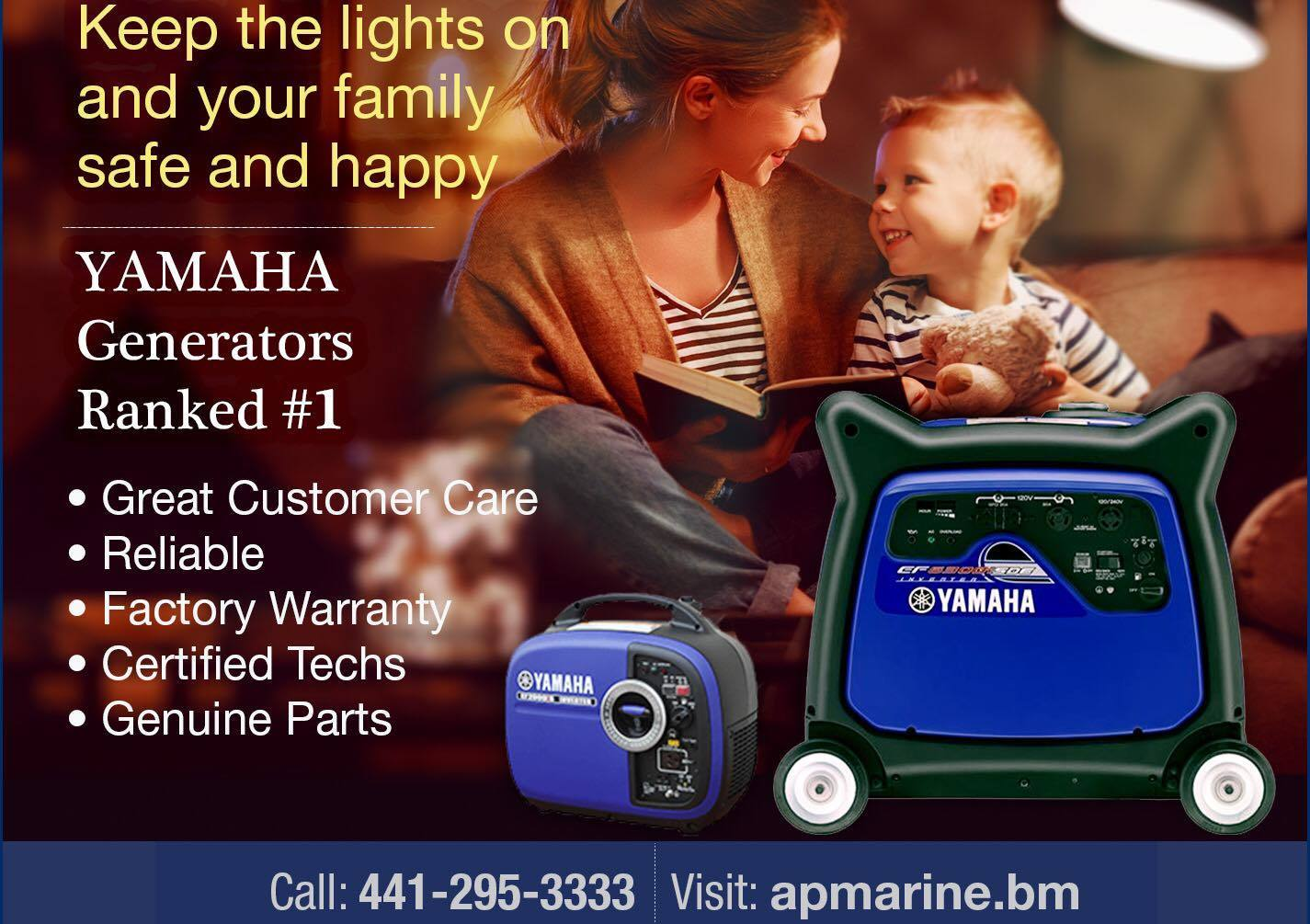 Yamaha Generators at AP Marine!