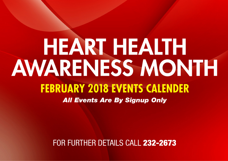 Heart Health Awareness Month Events Calendar  FEBRUARY