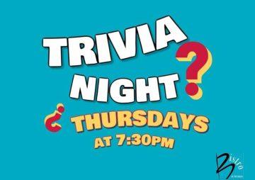 Trivia Thursday's at The Beach