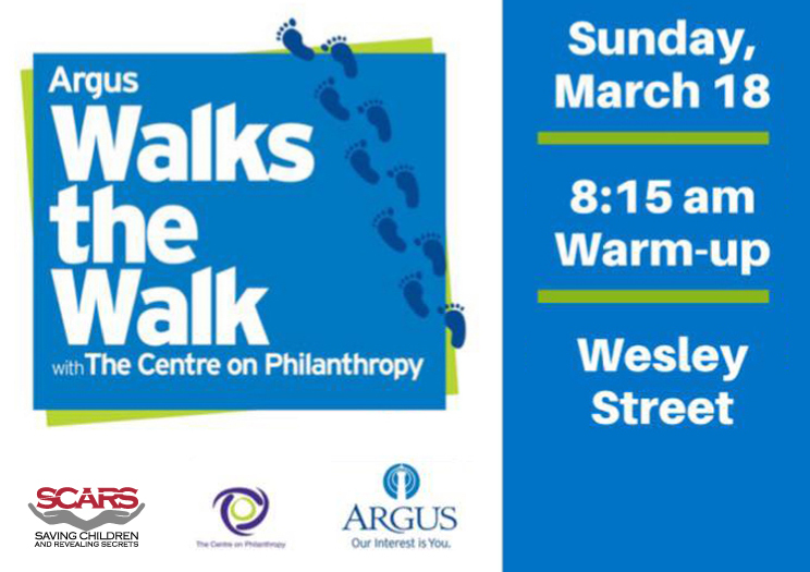 SCARS needs your help at Argus Walks The Walk with The Centre on Philanthropy!