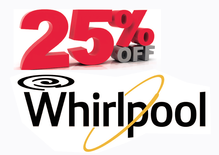 25% Yellow Month on Whirlpool Appliances