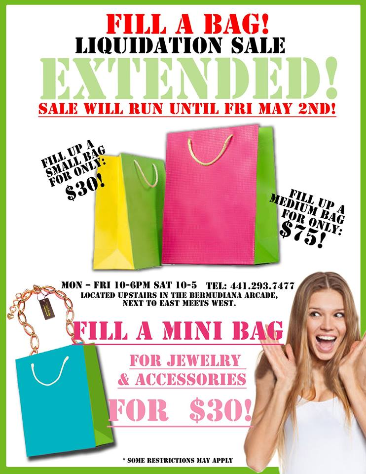 Bermuda Daisy's Fill a Bag Liquidation Sale Extended