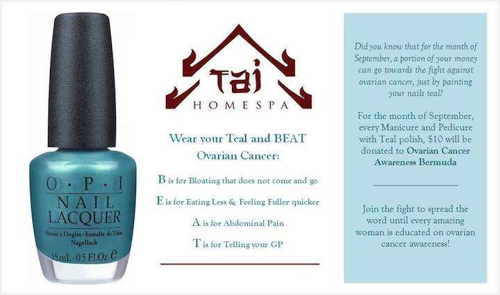 Tai Home Spa Bermuda Ovarian Cancer