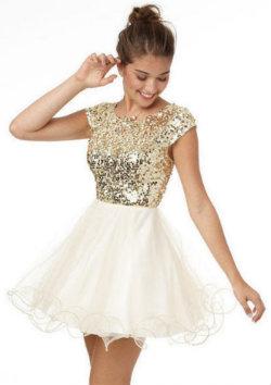 Gold-dress
