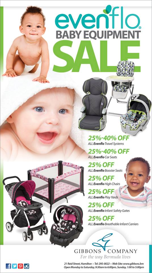 Bermuda Gibbons Company Evenflor Baby Equipment Sale