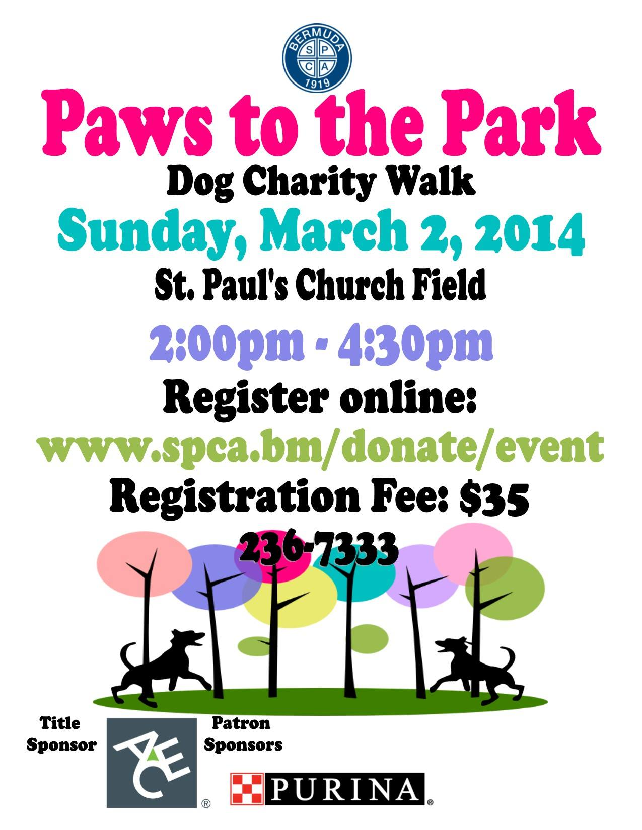 Bermuda SPCA Paws to the Park Charity Walk.