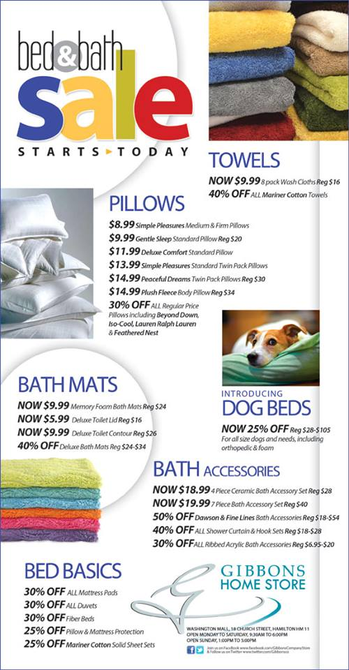 Bermuda Gibbons Company Bed and Bath Sale