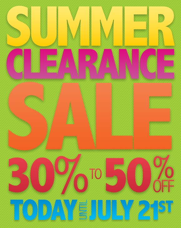 A.S. Cooper & Sons Summer Clearance Sale