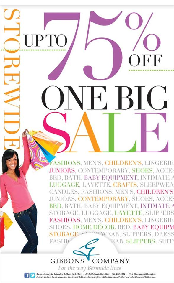 Bermuda GIbbons Company One Big Sale