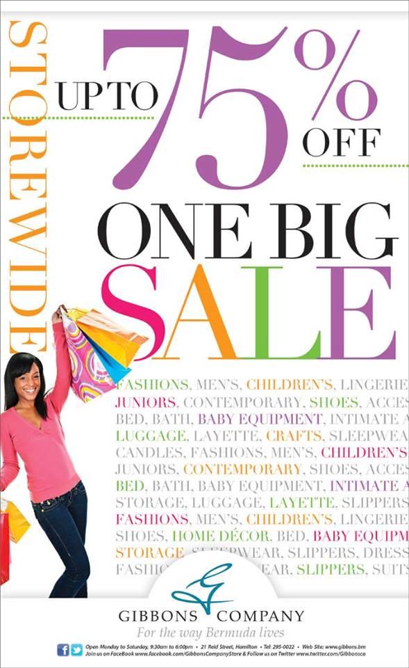 Bermuda GIbbons Company One Big Sale
