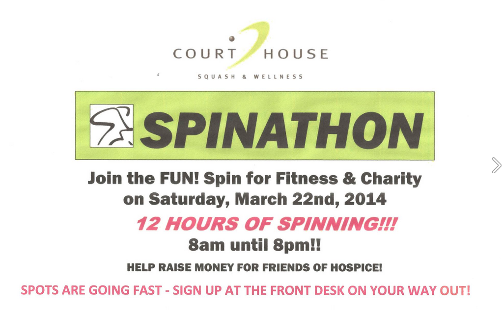 Bermuda Court House Squash and Wellness Spinathon