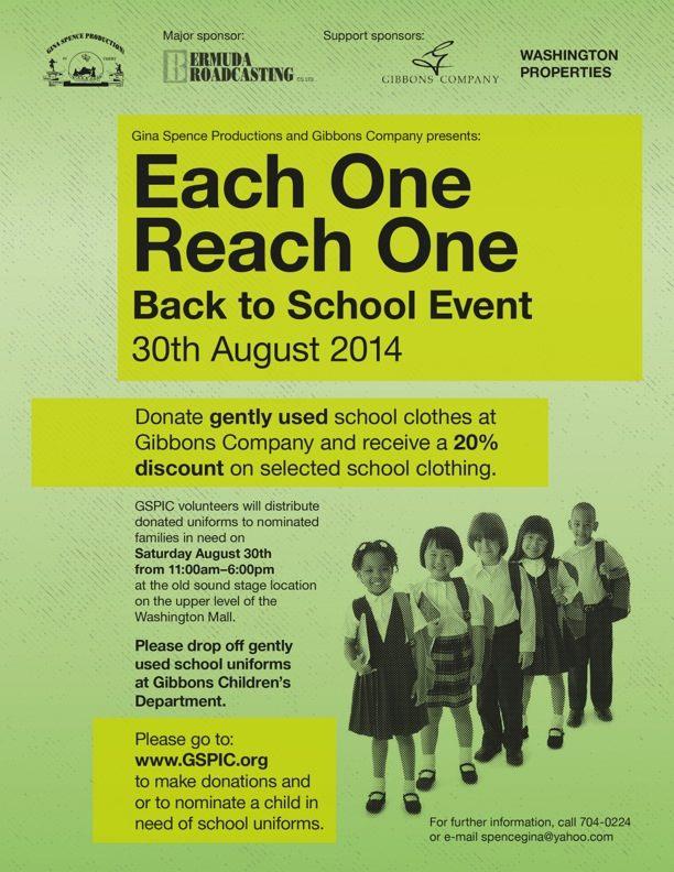 Each One REach One Back 2 School Bermuda