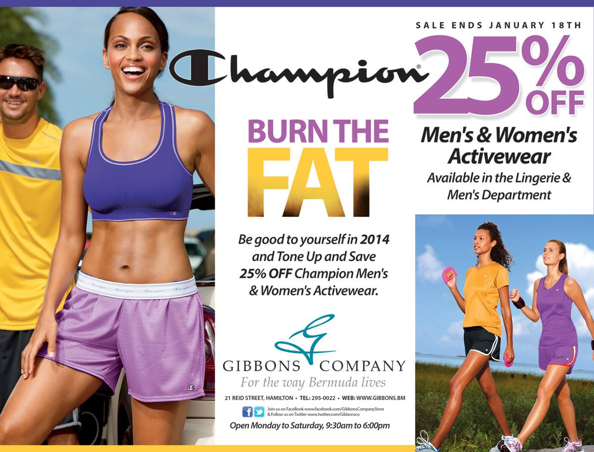 Bermuda Gibbons Company Men and Women's Activewear Sale