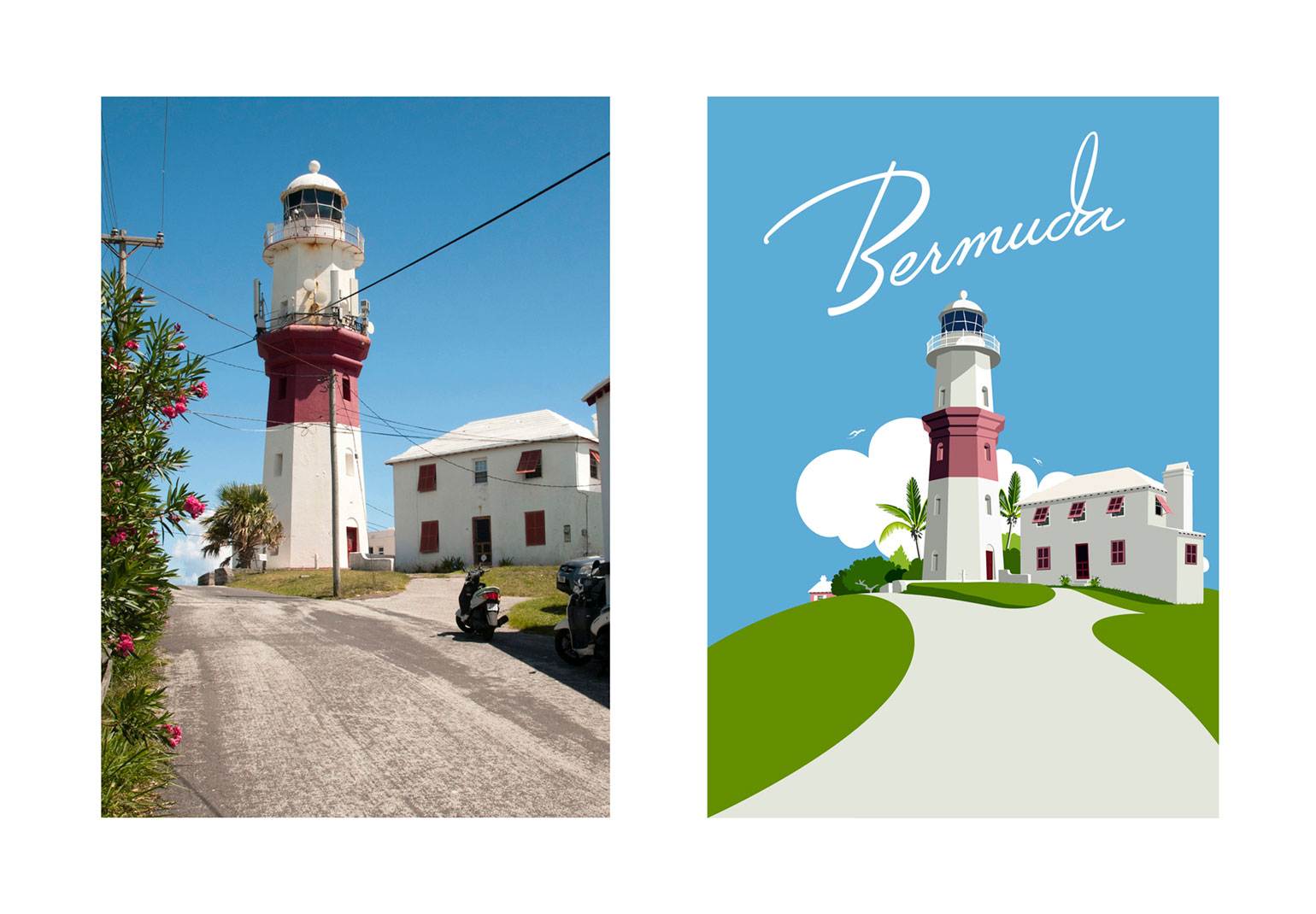 St. David's Lighthouse - Before & After by Peter Matcham