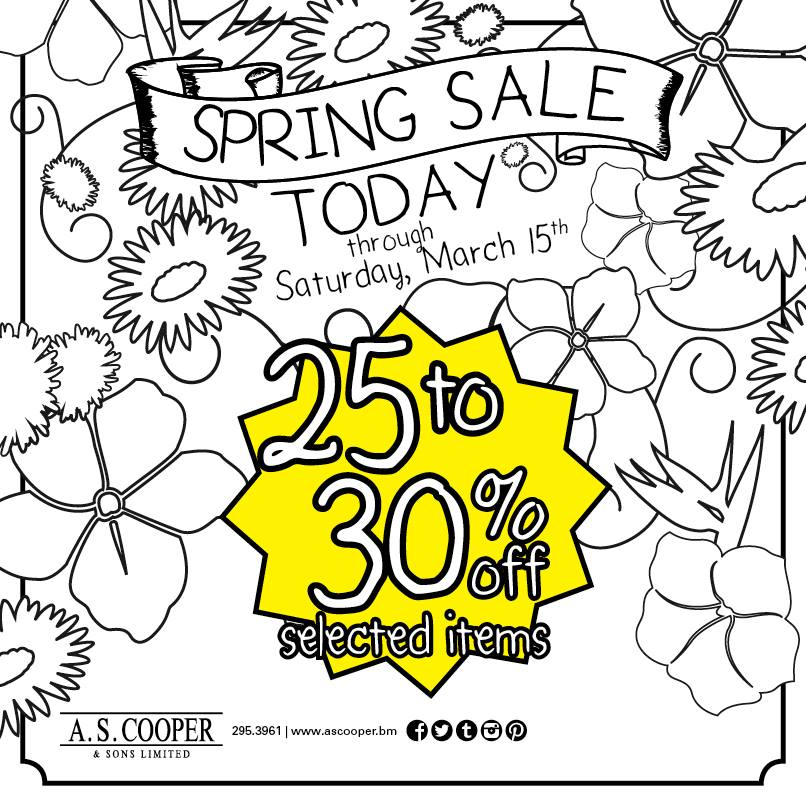 Bermuda A.S. Coopers Spring Sale