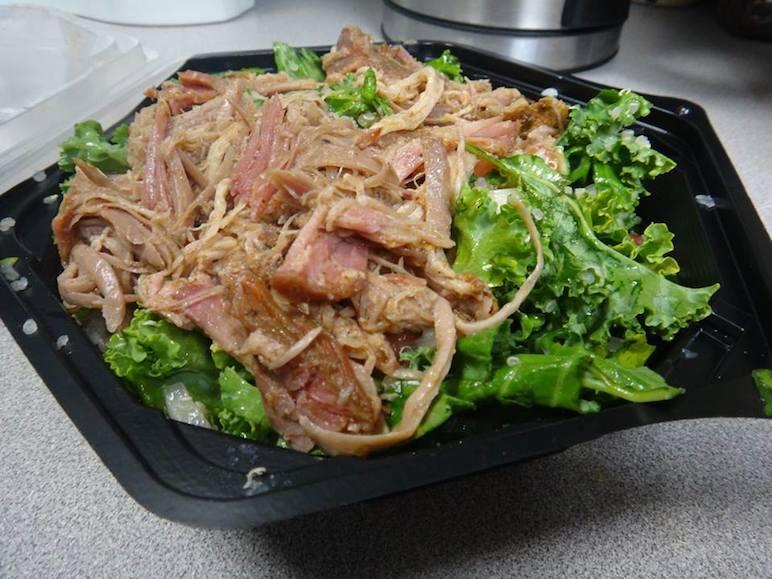 Kale Quinoa Pico De Gallo Salad w/ Pulled Pork