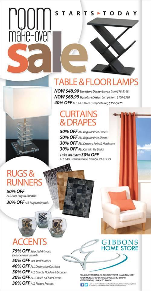 Bermuda Gibbons Room Make-Over Sale