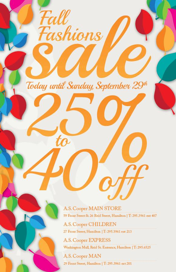 A.S. Coopers Fall Fashion Sale Bermuda