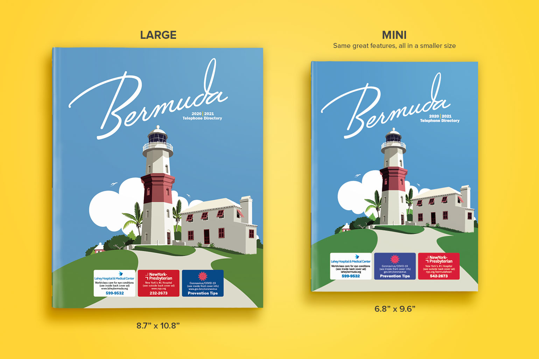 2020/21 Bermuda Telephone Directory sizes