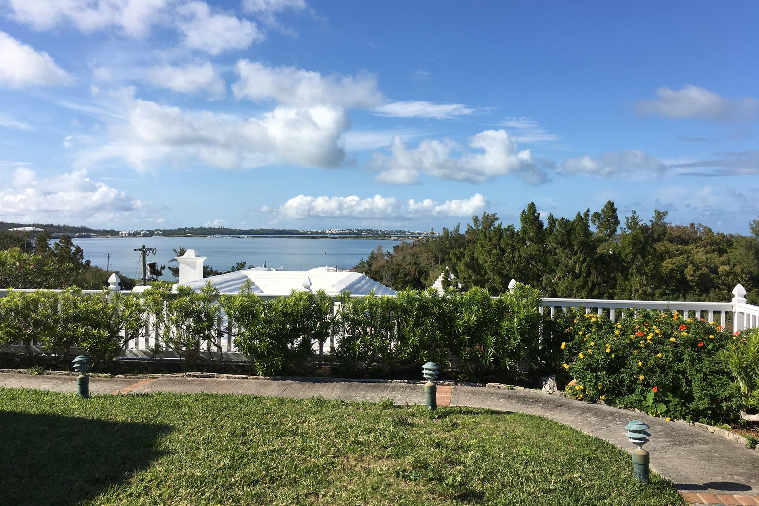 The Digital Nomads view from their Bermuda home.