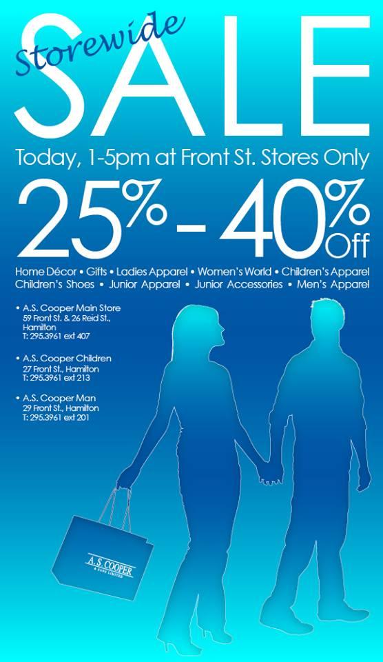 Bermuda A.S. Coopers Storewide Sale